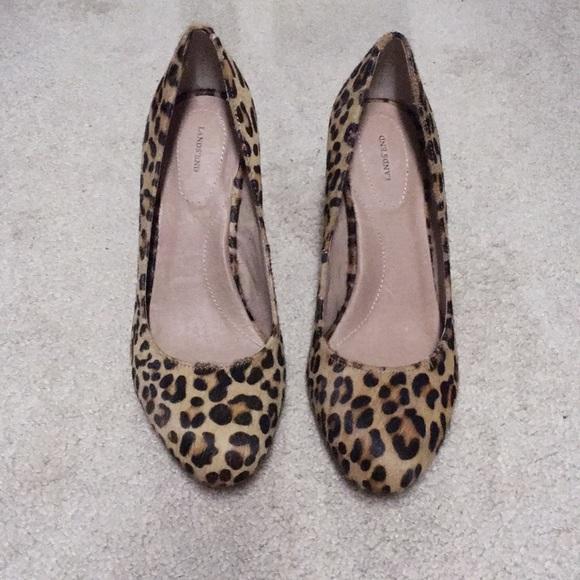 16a0797a13564 Lands  End Shoes - Lands End leopard print heels.